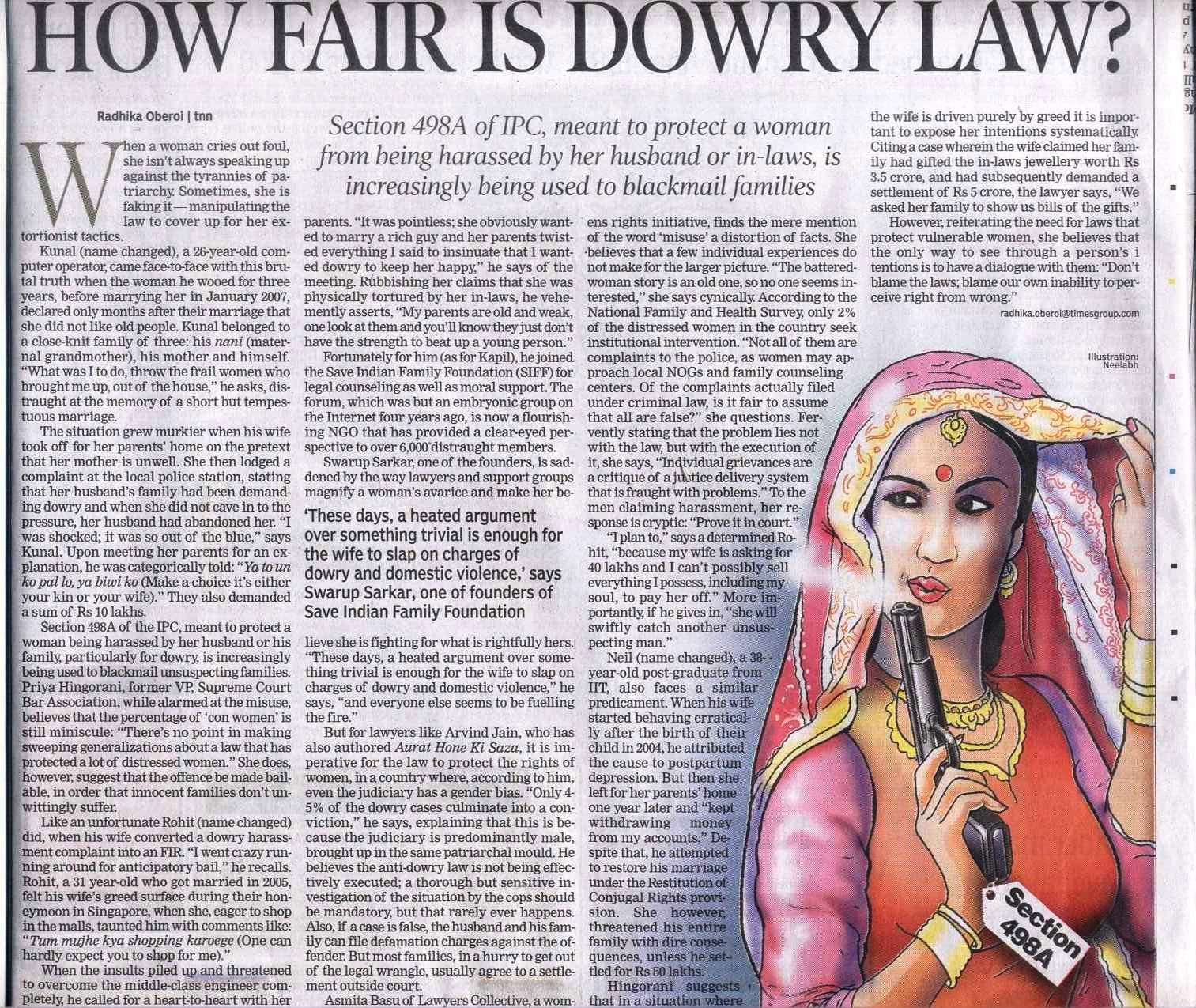 women development dowry act In 1961, the dowry prohibition act made giving and taking of dowry,  dowry  death on the grounds that, apart from the fact that the woman had.